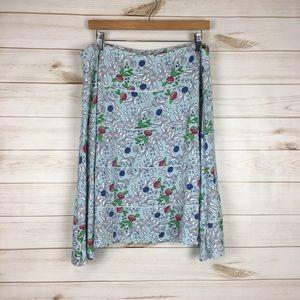 3/$35 Floral blue skirt